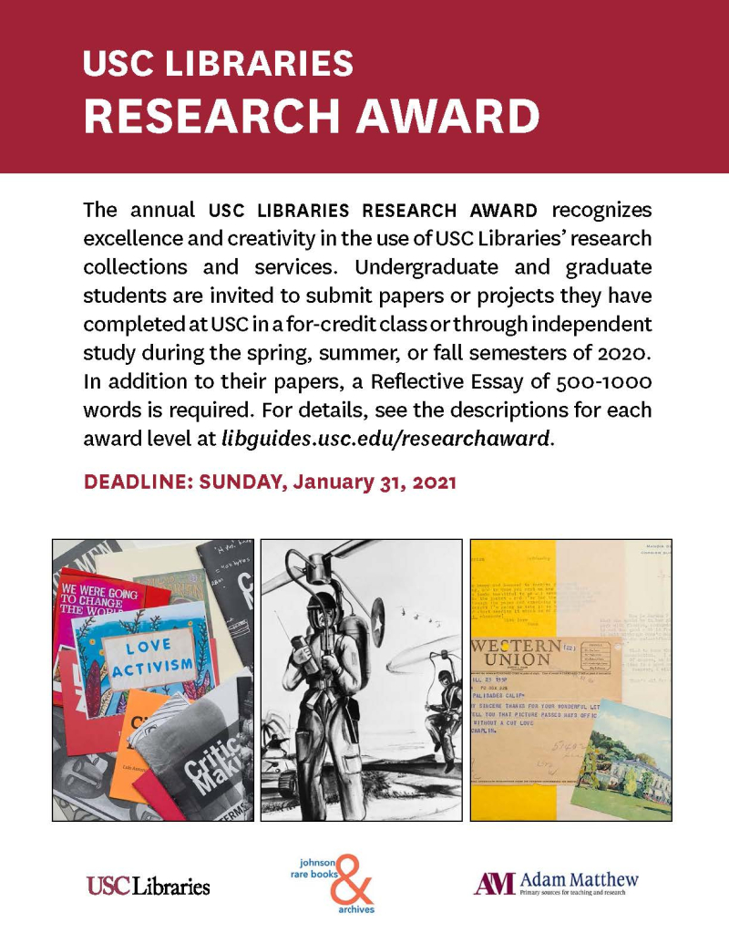 Research Award flyer 2020